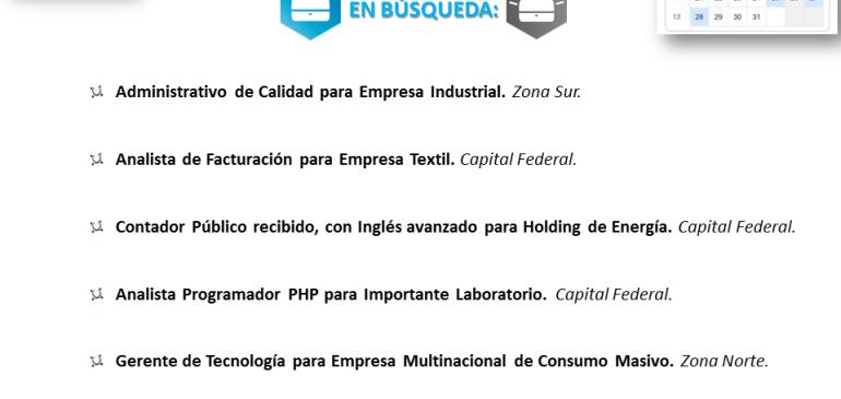 Oportunidades Laborales Marzo!!!